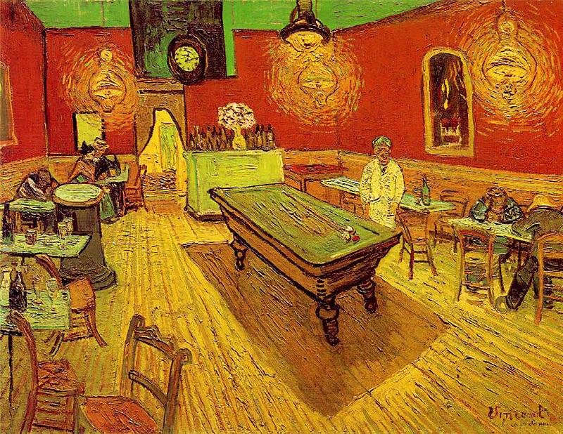 Винсент Ван Гог. «Ночное кафе», 1888 г.
