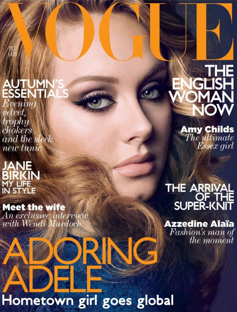 Обложка британского журнала Vogue, октябрь 2011 г.