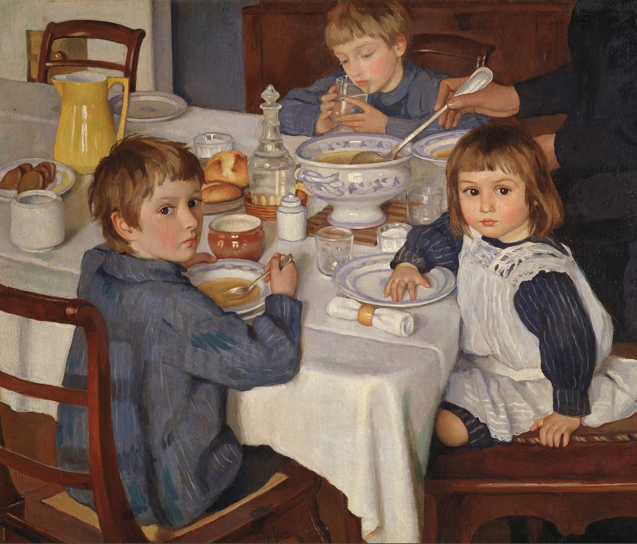 Зинаида Серебрякова.«За завтраком», 1914