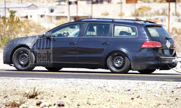 Новый Volkswagen Passat универсал заметили на тестах