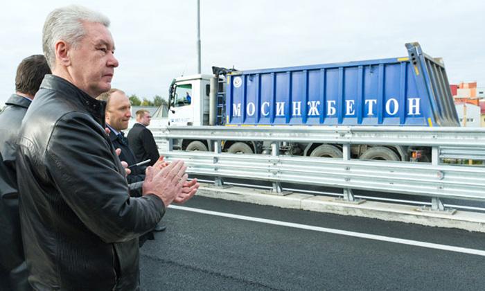 Мэр Москвы Сергей Собянин открыл второй автодорожный выезд из района Куркино