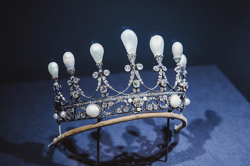 Тиара из золота и серебра с жемчугом, принадлежащая Ганноверскомукоролевскомудому. (Германия, ок. 1930 г.)