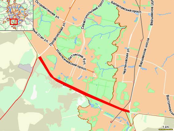 МКАД – от Варшавского шоссе до Профсоюзной улицы