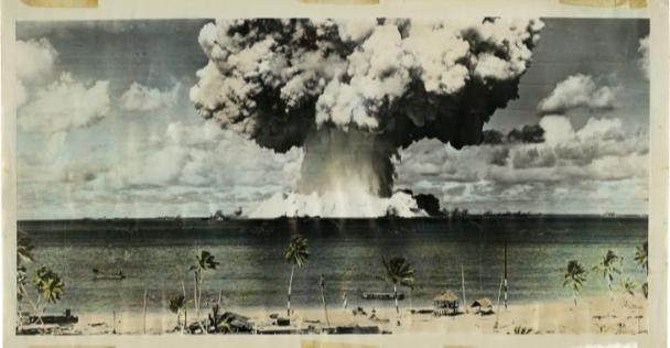 1-я объединенная оперативная группа вооруженных сил США. Испытание «Бэйкер», операция «Перекресток». Атолл Бикини, 25 июля 1946