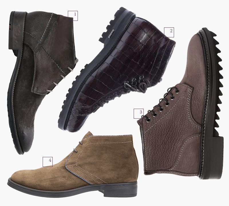 1 | Ботинки Lloyd; 2 | Ботинки Baldinini; 3 | Ботинки Geox; 4 | Ботинки Lanvin