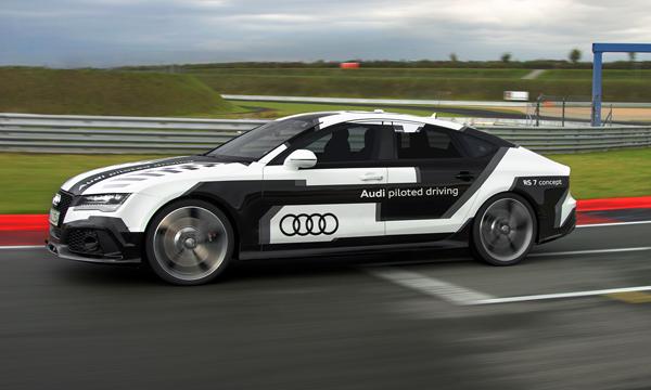 Самый быстрый беспилотник Audi RS7 испытали на гонках