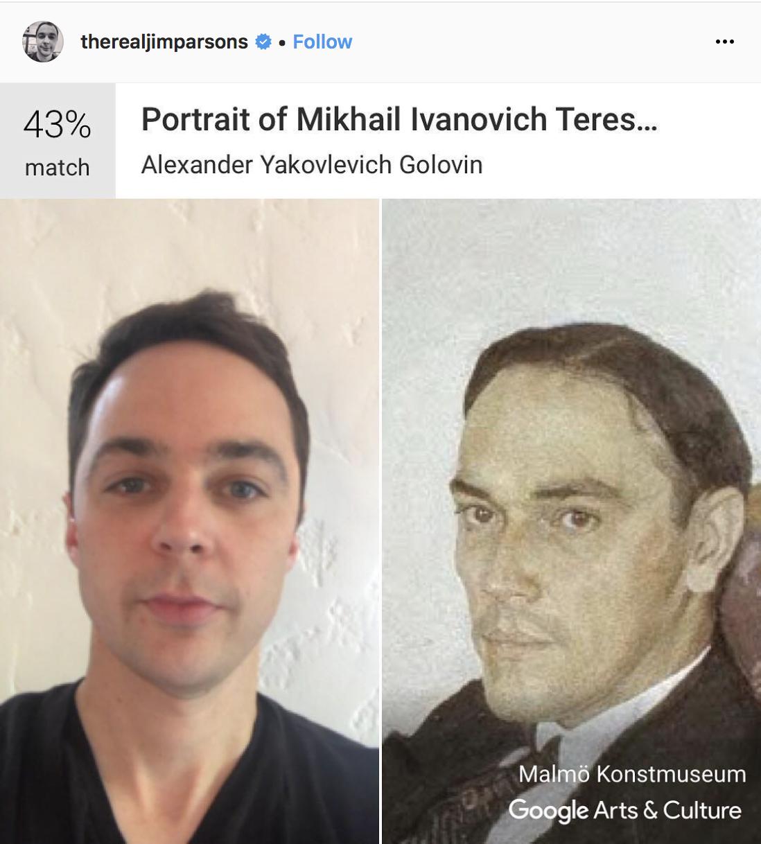 Джим Парсонс и «Портрет Михаила Ивановича Терещенко» работы художника Александра Головина.