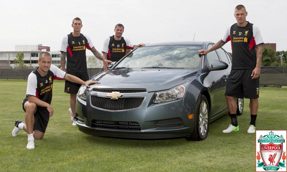 Chevrolet стал спонсором футбольного клуба «Ливерпуль»