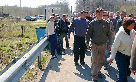 Обманутые дольщики перекрыли трассу Москва – Нижний Новгород