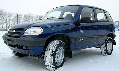 Chevrolet Niva цвета «Ривьера»
