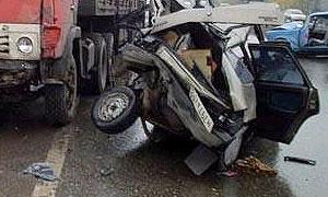 На трассе Россия столкнулись четыре автомобиля