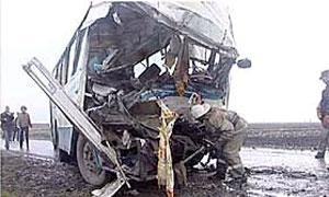 На Украине автобус столкнулся с МАЗом