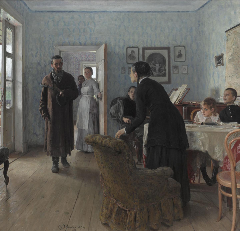 «Не ждали», Илья Репин, 1884–1888