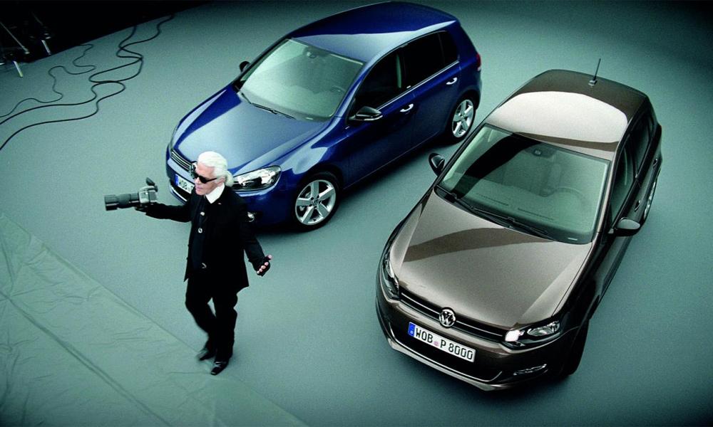 Карл Лагерфельд стал лицом Volkswagen Golf