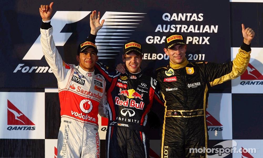 Петров впервые поднялся на подиум «Формулы-1»