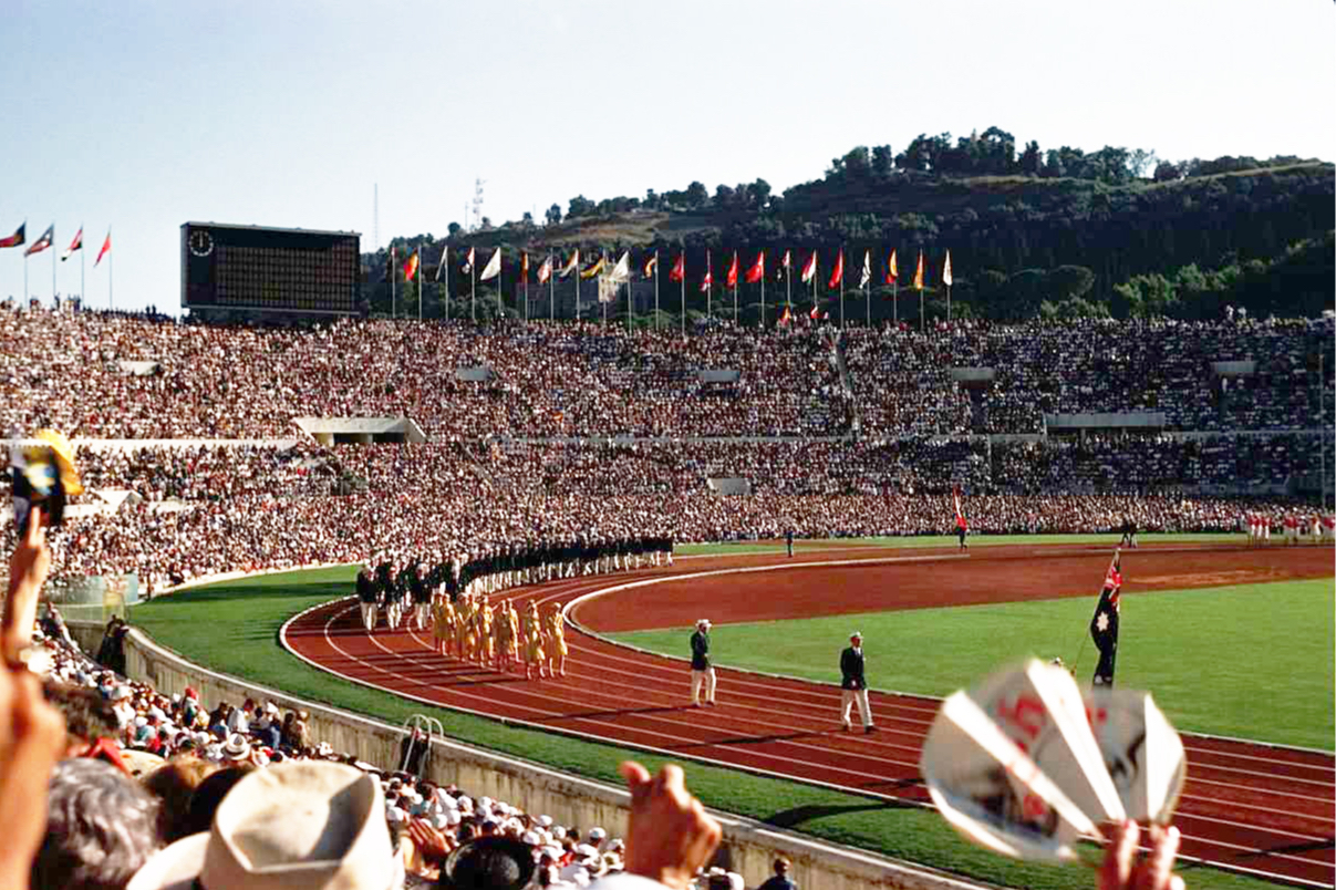 Церемония открытия Олимпиады в Риме в 1960 году