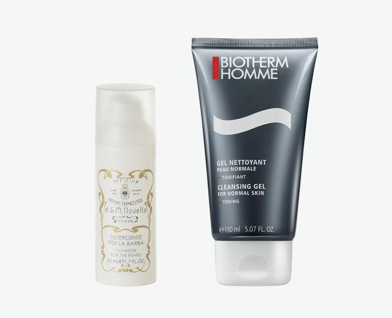 Шампунь для бороды Detergente Per La Barba, Santa Maria Novella Гель для умывания Cleansing Gel, Biotherm