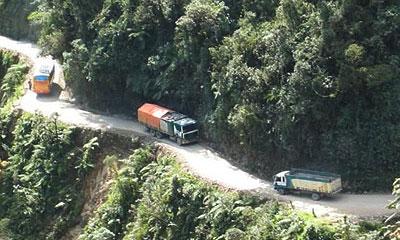 Самая опасная дорога в мире находится в Боливии