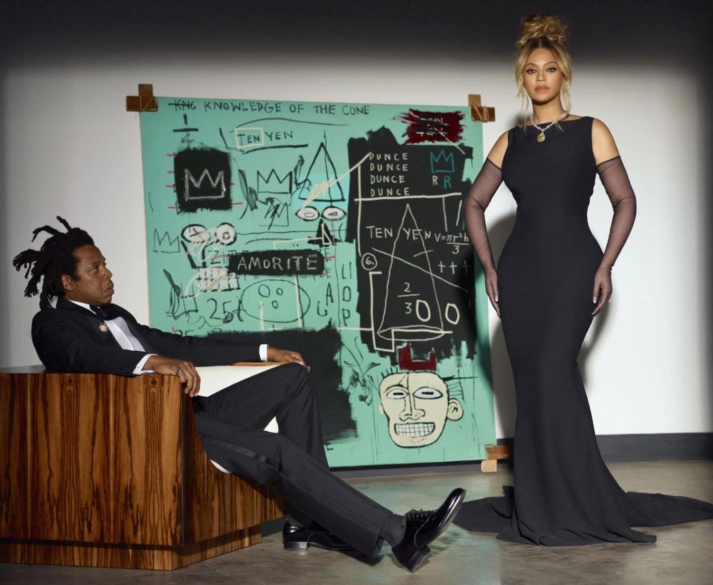 Бейонсе и Джей-Зис картиной Ж.-М. Баския«Equals Pi» дляTiffany & Co.