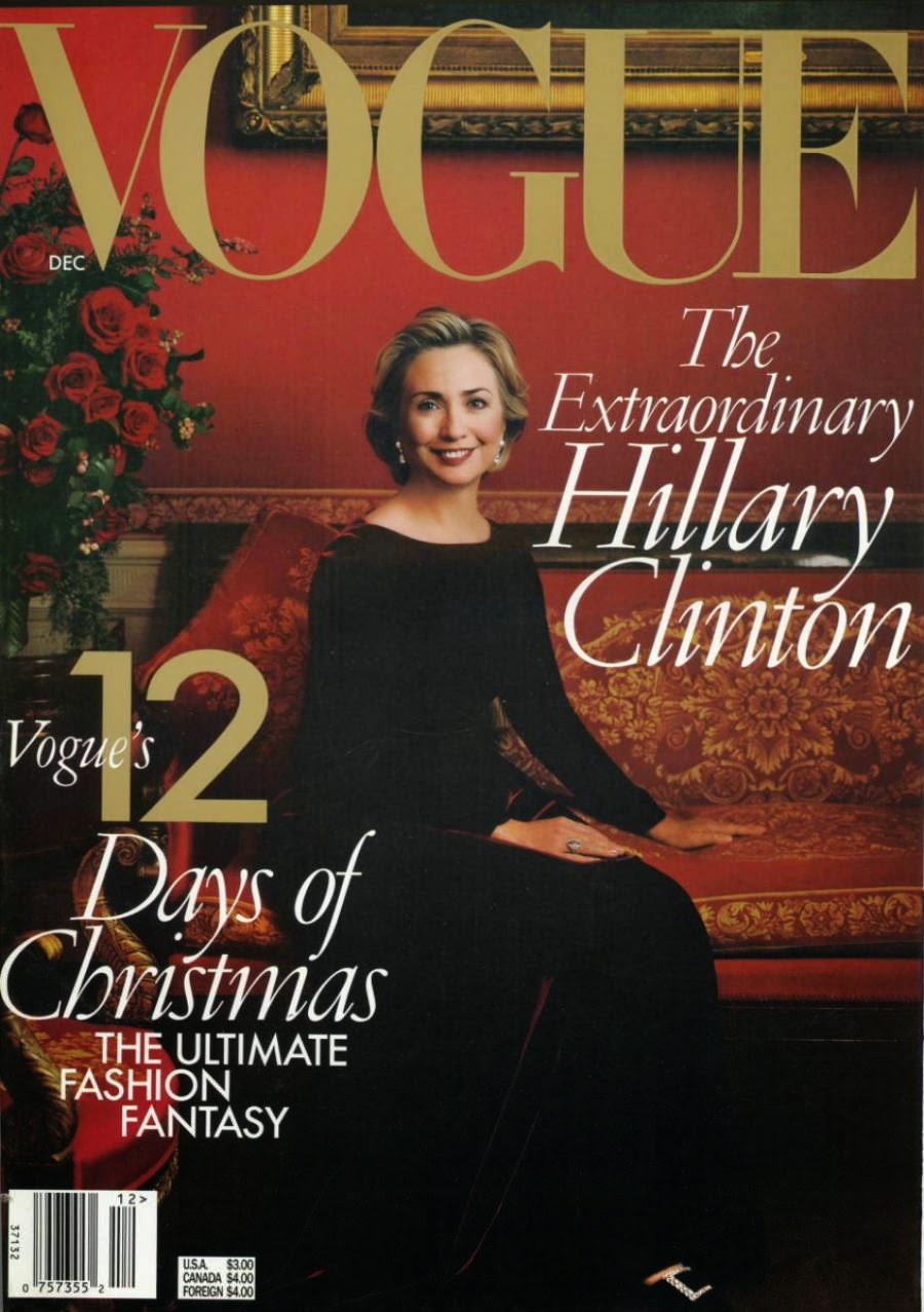 Обложка журнала Vogue, декабрь 1998