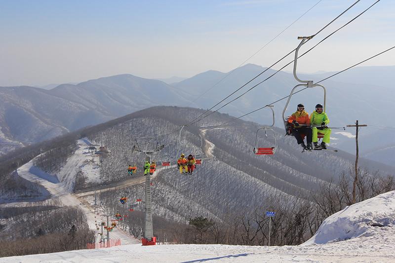 Северокорейский горнолыжный курорт