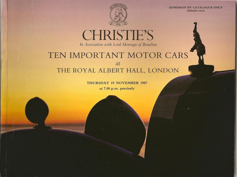 Обложка каталогак аукциону Christie's, который19 ноября 1987 года прошел в королевском Альберт-холлев Лондоне. Эти торги до сих пор называют «золотыми»
