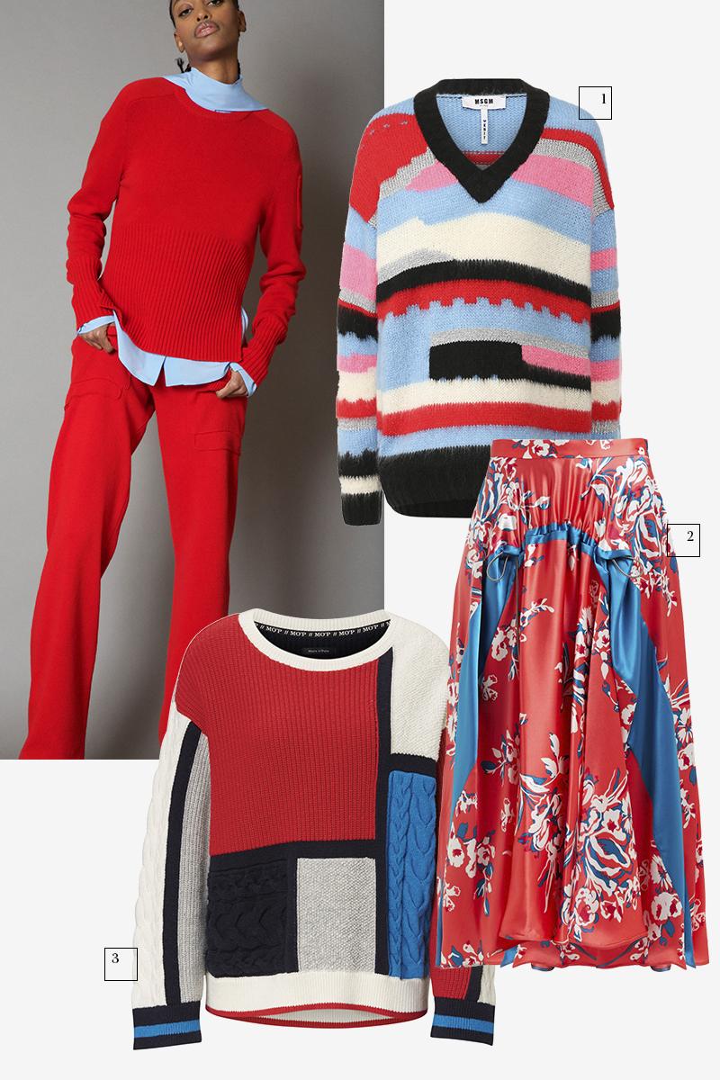 Cédric Charlier  1) MSGM (ЦУМ), 32 100 руб. 2) Roksanda (Matches Fashion), 56 170 руб. 3) Marc O'Polo, 19 890 руб.