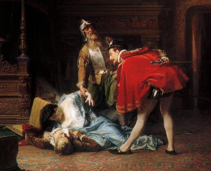 К.Ф.Гун. Сцена из Варфоломеевской ночи. 1870 г.