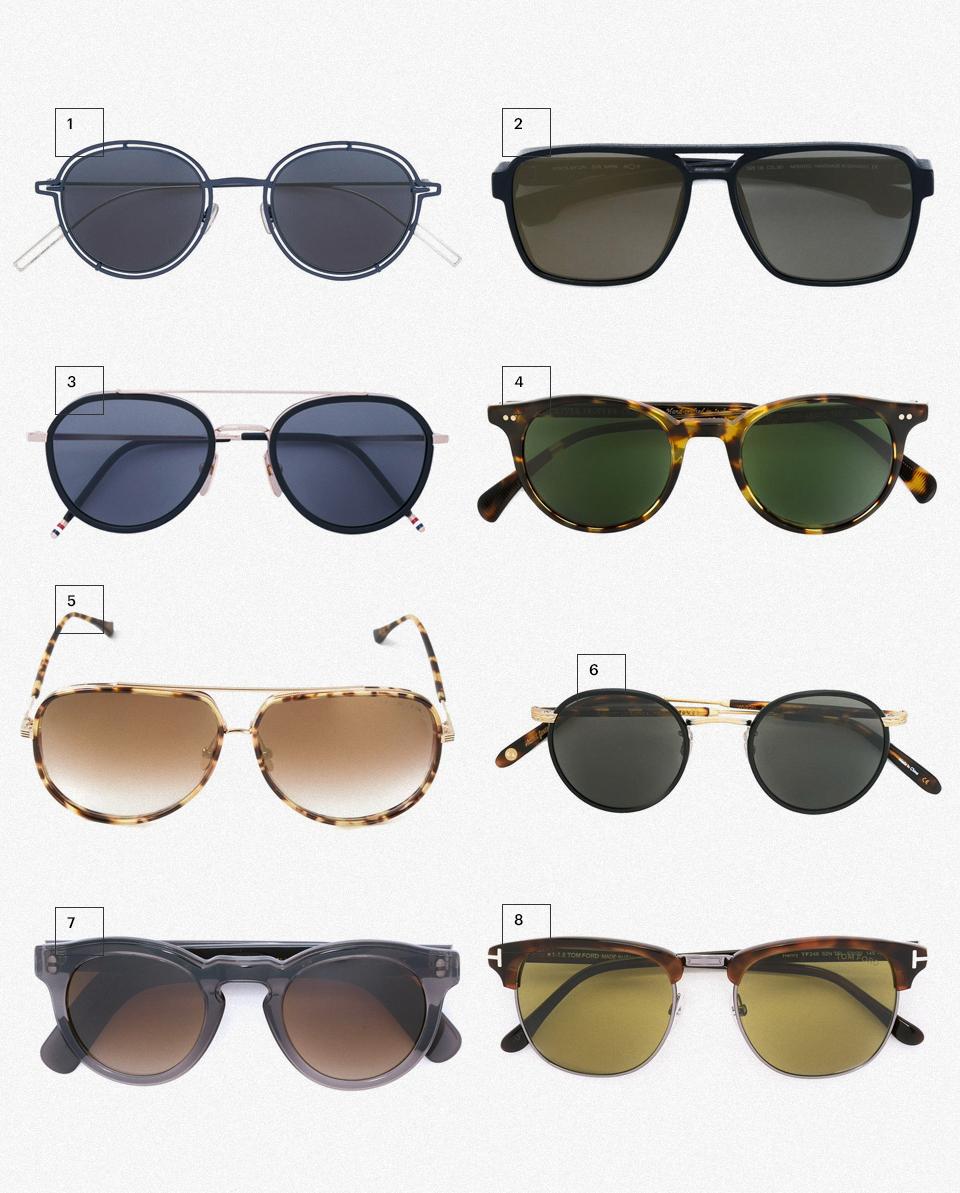 1.Солнцезащитные очки 'Dior0210S', Dior, 20 654 руб. 2.Солнцезащитные очки 'Kappa', Mykita, 22 757 руб. 3.Солнцезащитные очки-авиаторы, Thom Browne, 30 345 руб. 4.Солнцезащитные очки 'Delray', Oliver Peoples, 17 411 руб. 5.Солнечные очки 'Condor Two', Dita, 24 331 руб. 6.Солнцезащитные очки 'Wilson', Garrett Leight, 17 139 руб. 7.Солнцезащитные очки в круглой оправе, Cutler & Gross, 17 814 руб. 8.Солнцезащитные очки 'Henry', Tom Ford, 18 394 руб.