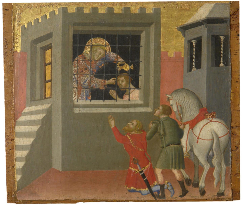 Бартоло Ди Фреди, «Святой Лаврентий крестит в темнице узника Луциллия и возвращает ему зрение». Сиена, 1330/1335— 1410