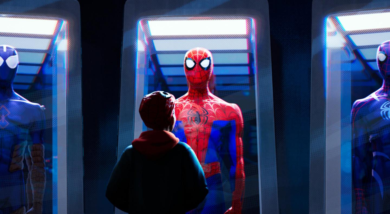 Кадр из анимационного фильма «Человек-паук: Через вселенные»