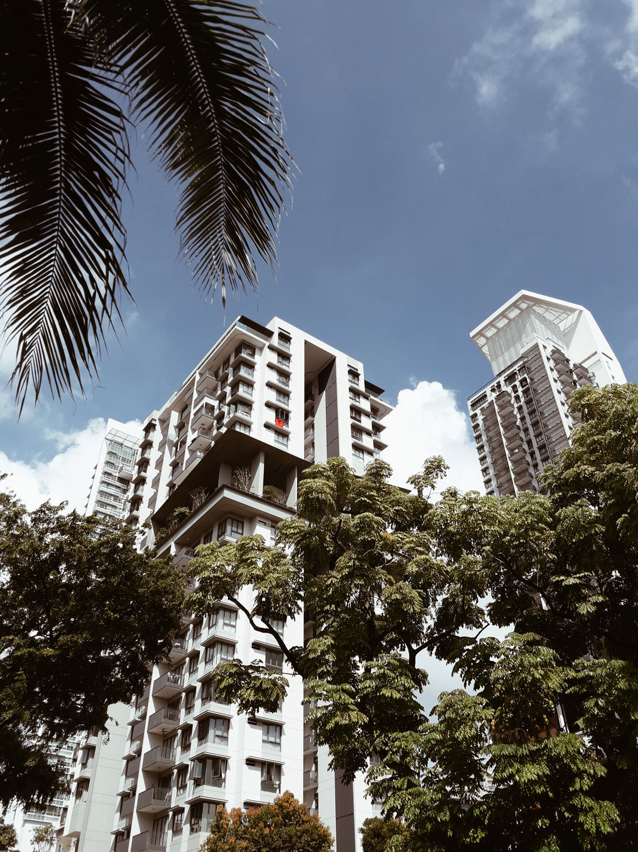 Многоэтажные сингапурские дома