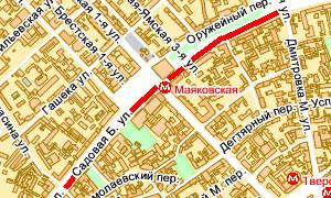 Пробка от Малой Бронной до Малой Дмитровки