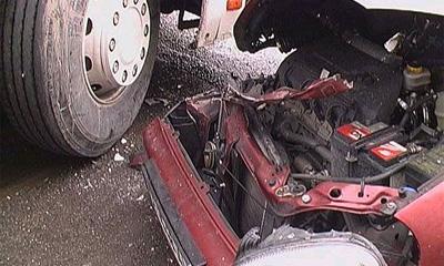 На Украине столкнулись 6 автобусов и несколько автомобилей