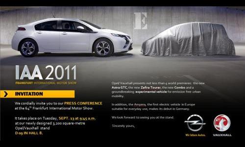 Opel привезет во Франкфурт электрический хэтчбек