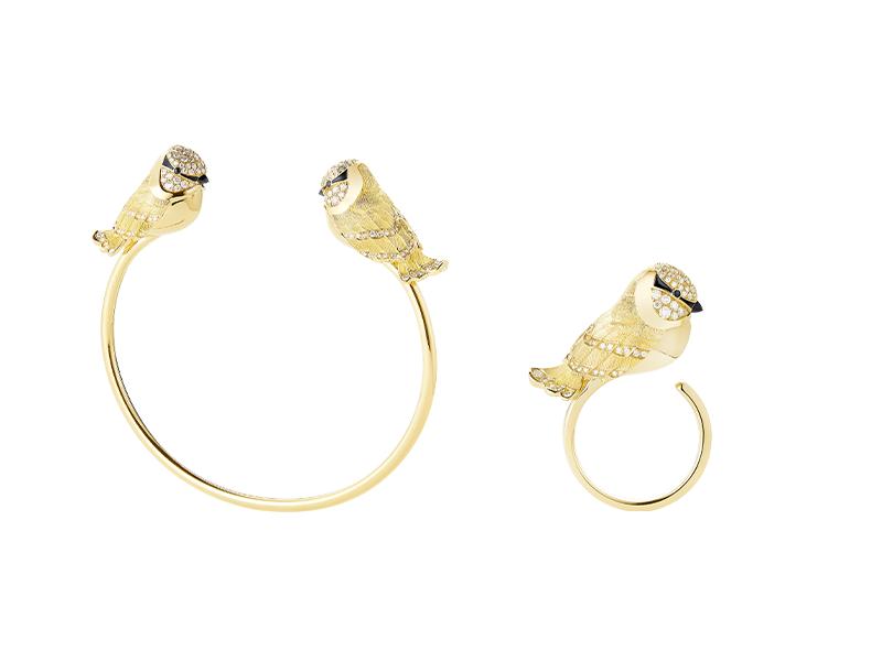 Браслет и кольцо Meisa the Chickadee, Boucheron