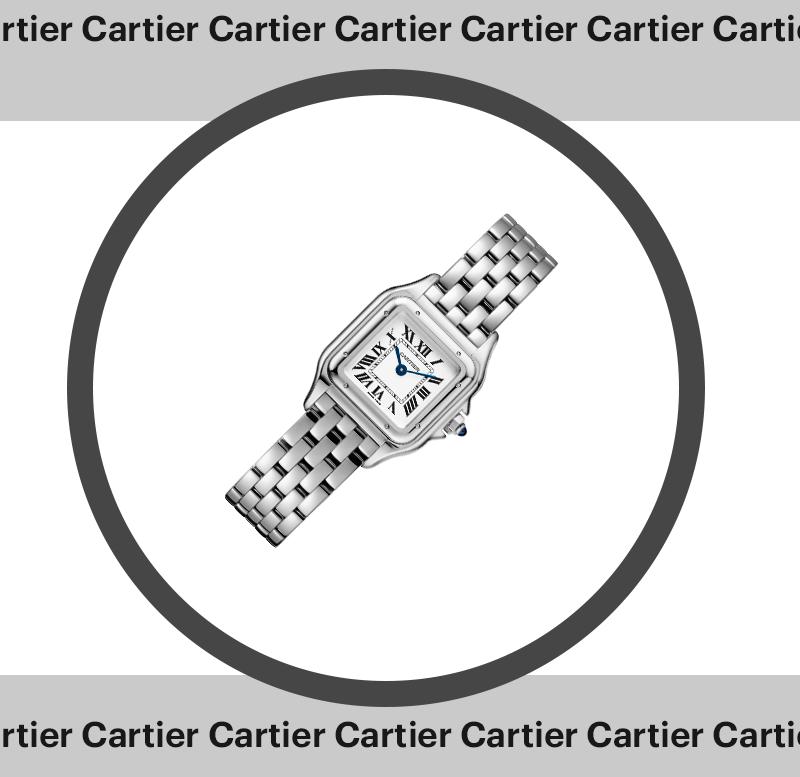 Panthère de Cartier (малая модель), Cartier, сталь — € 3200 (208 тыс. руб.)