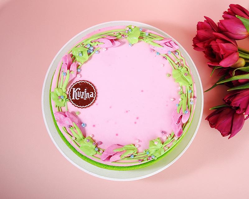 Торт «Фиалка-малина» в сети Kuzina