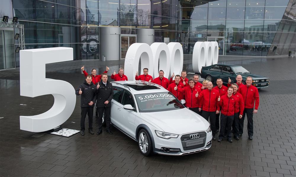 Пятимилионная Audi Quattro сошла с конвейера