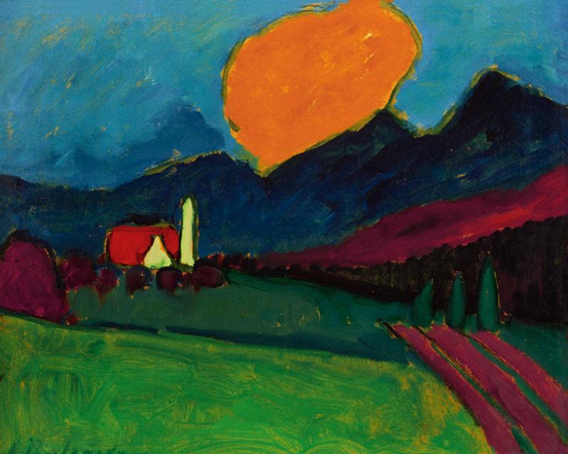 Алексей Явленский. «Пейзаж в Мурнау. Оранжевое облако», 1909