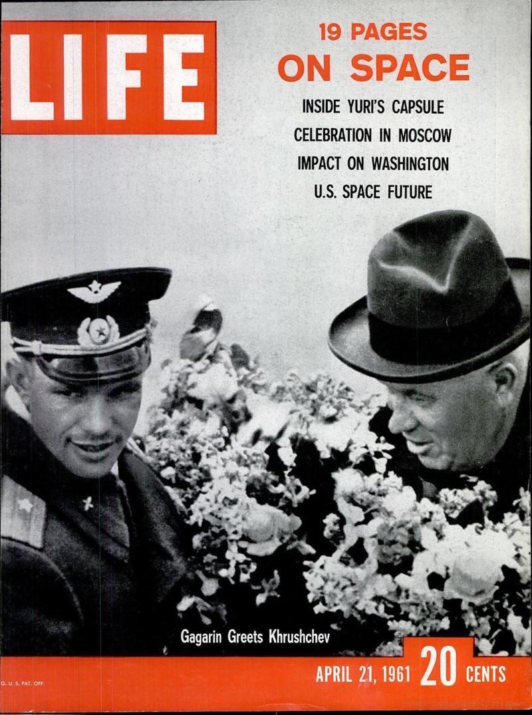 Обложка журнала Life от 21 апреля 1961