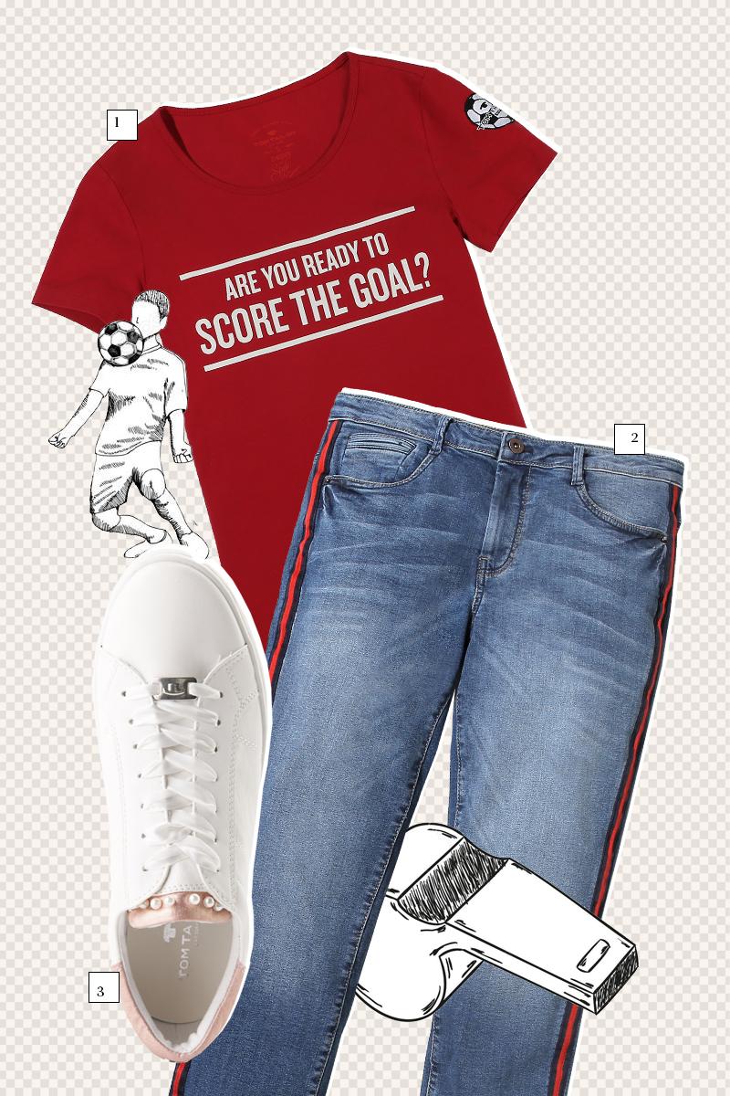 1. Женская футболка Tom Tailor — ₽ 1499 2. Джинсы Tom Tailor — ₽ 5999 3. Кроссовки Tom Tailor — ₽ 2497