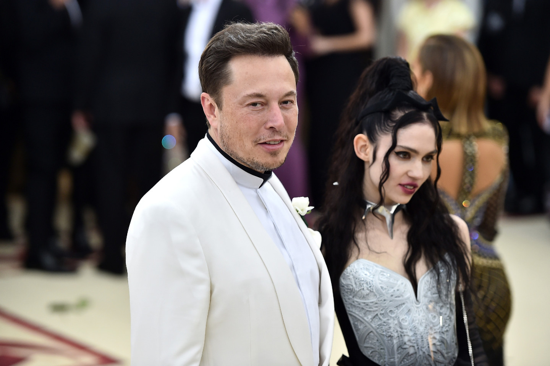 Илон Маск и Граймс на Met Gala в 2018 году