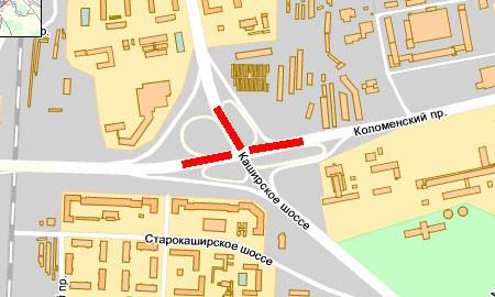 ДТП на перекрестке Каширского шоссе и Коломенского проезда