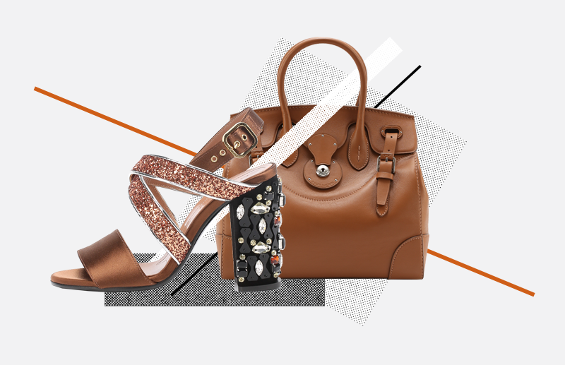 Босоножки,Marni, 45 600 руб.; сумка,Ralph Lauren, 135 000 руб.