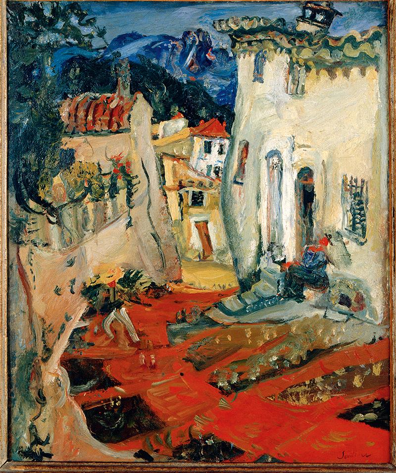 Хаим Сутин. «Улица в Кань», 1924
