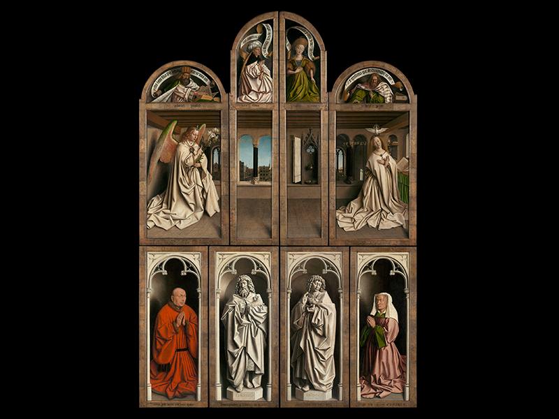 Ян и Хуберт ван Эйки, «Поклонение агнцу», 1432. Собор Св. Бавона, Гент
