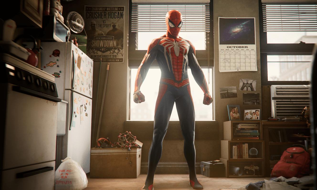 Кадр из видеоигры «Человек-паук» для PS4