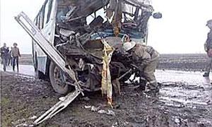 В Пермском крае столкнулись два автобуса