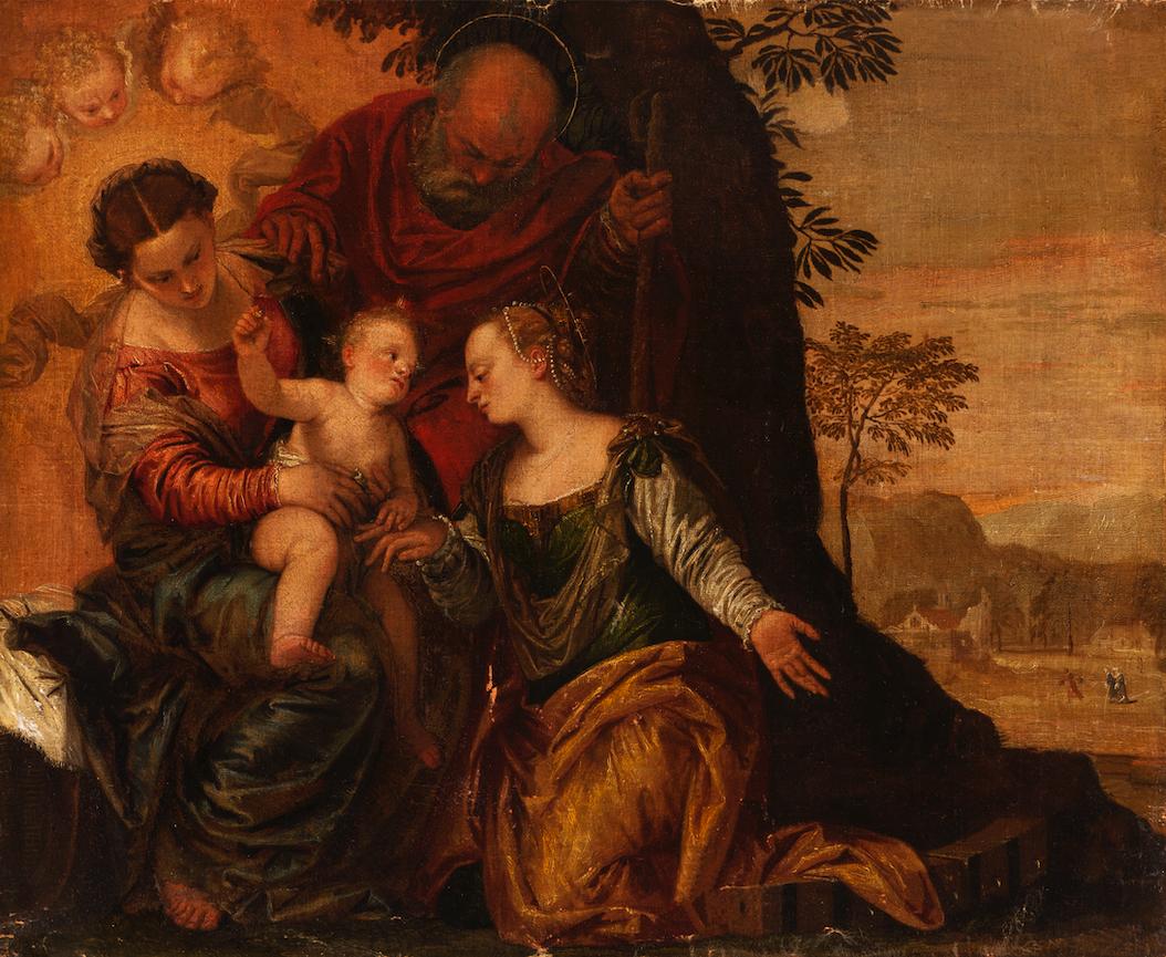 Мастерская Паоло Веронезе,«Обручение Св. Екатерины». Конец XVI–XVII века